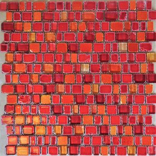 Glasmosaik rot orange mix 1,1/1,5/2,1/2,5 x 1,8 x 0,8cm,...