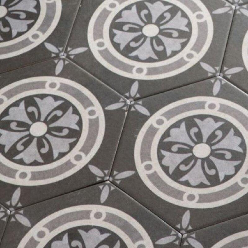 Zemenoptik bodenfliesen vintage clasic hexagon sechseck - Bodenfliesen vintage look ...