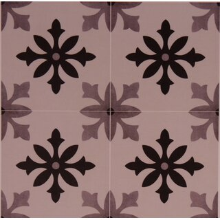 Zementoptik Bodenfliesen Dekor Degas Blanco Grau Creme Mix Glasiert