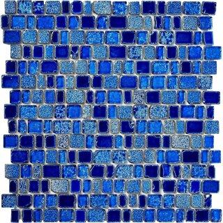 Glasmosaik Aquamarin Blau 11 15 21 25 X 18 08cm 1 Tafel Bilbao4 M1