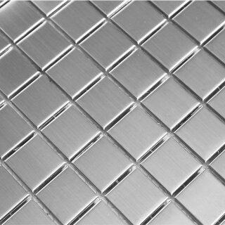 Edelstahl mosaik fliesen 23x48x8mm silber 8 95 - Mosaikfliesen silber ...