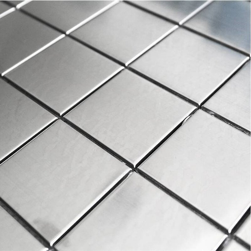 Edelstahl mosaik fliesen 48x48x8mm silber 9 95 - Mosaikfliesen silber ...