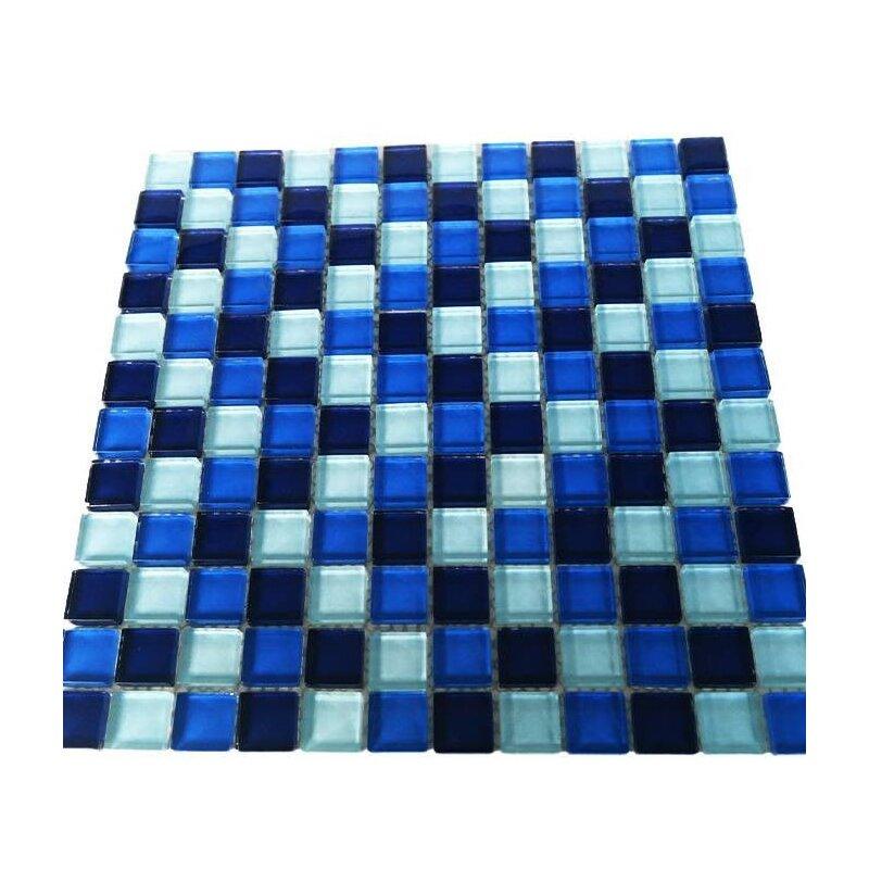 glasmosaik blau mix mosaik aus glas 2 3x2 3x0 8 cm. Black Bedroom Furniture Sets. Home Design Ideas
