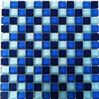 Glasmosaik Blau Mix Mosaik Aus Glas Xx Cm Fliese G - Glasmosaik fliesen blau