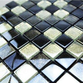Ziegelverband Sonderangebot Mosaik Glasmosaik hellblau mix 2,3x4,8x0,8cm