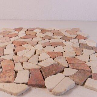 Marmor Bruch Mosaik Fliesen Rosso Verona Biancone