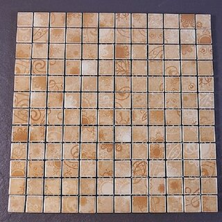 2,3x2,3x0,4 cm Keramikmosaik braun mix matt Keramik Mosaik Mosako Fliesen