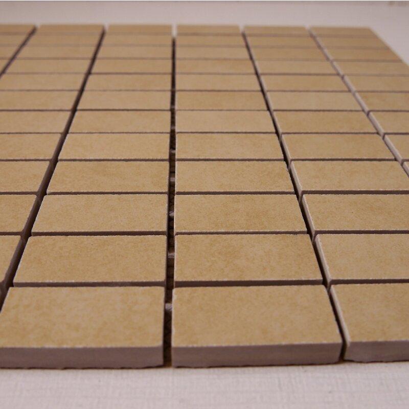 Feinsteinzeug mosaik r9 beige 2 3x4 8x1 0cm 1 tafel for Pci fliesenkleber frostsicher