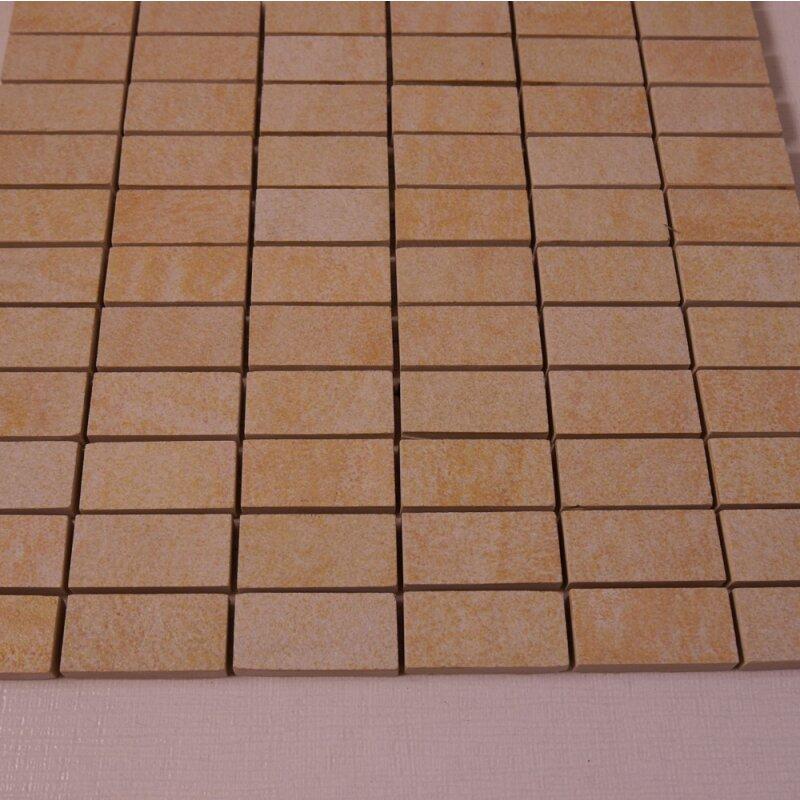 Feinsteinzeug mosaik r11 beige mix 2 3x4 8x1 0cm 1 tafel for Pci fliesenkleber frostsicher