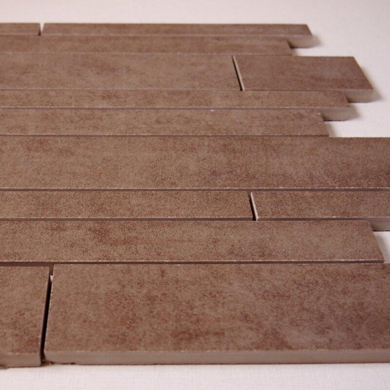 Feinsteinzeug st bchenmosaik braun 30x30x1 1cm r10 1 for Pci fliesenkleber frostsicher