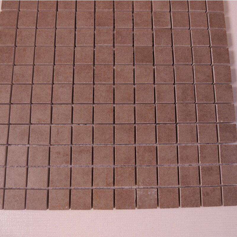 Feinsteinzeug mosaik r10 braun 2 3x2 3x1 1cm 1 tafel for Pci fliesenkleber frostsicher