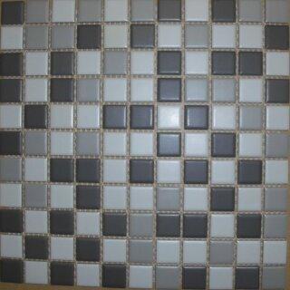 MOSAKO Mosaik 2,3x2,3x0,4 cm ca Keramikmosaik grau mix