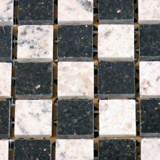 Granit Mosaik Star Galaxy Black / Kashmir white 2,3x2,3x0,8cm, 13,95