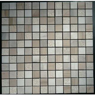 Hervorragend Mosaikfliesen Naturstein Mocca Braun mix 2,3x2,3 cm, 11,95 € FO49